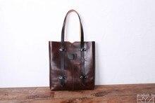 Orijinal tasarım antik yollar geri kafa tabakası inek derisi kadın basit omuz çantası deri çanta tüm sözleşmeli çanta