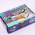 2017 Nuevo Popular Europeo Coloridas Bandas de Goma Telar Pulseras Making Kit Con S Hook & Encantos DIY