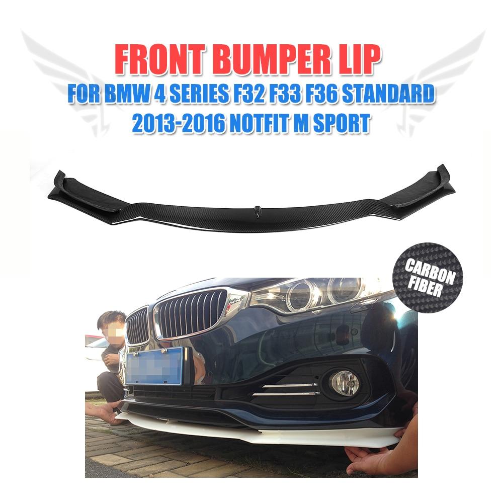 Carbon Fiber Front Bumper Lip Chin Spoiler For For BMW F32 F33 F36 Standard 13-16 Non Sport Convertible