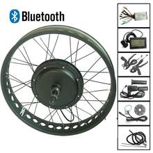 Fat Ebike Conversion Kit with LCD3 Display Bluetooth 250/250/500/750/1000/1500W Snow Eletric Bike Rear Wheel Conversion Kit(China)