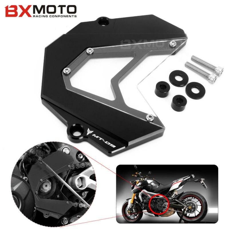 mt 09 For Yamaha MT-09 MT09 FZ9 2013 2014 2015 Black Motorcycle accessories CNC Aluminum  motorcycle Front Sprocket Cover yamaha 9 9 fmhs в красноярске