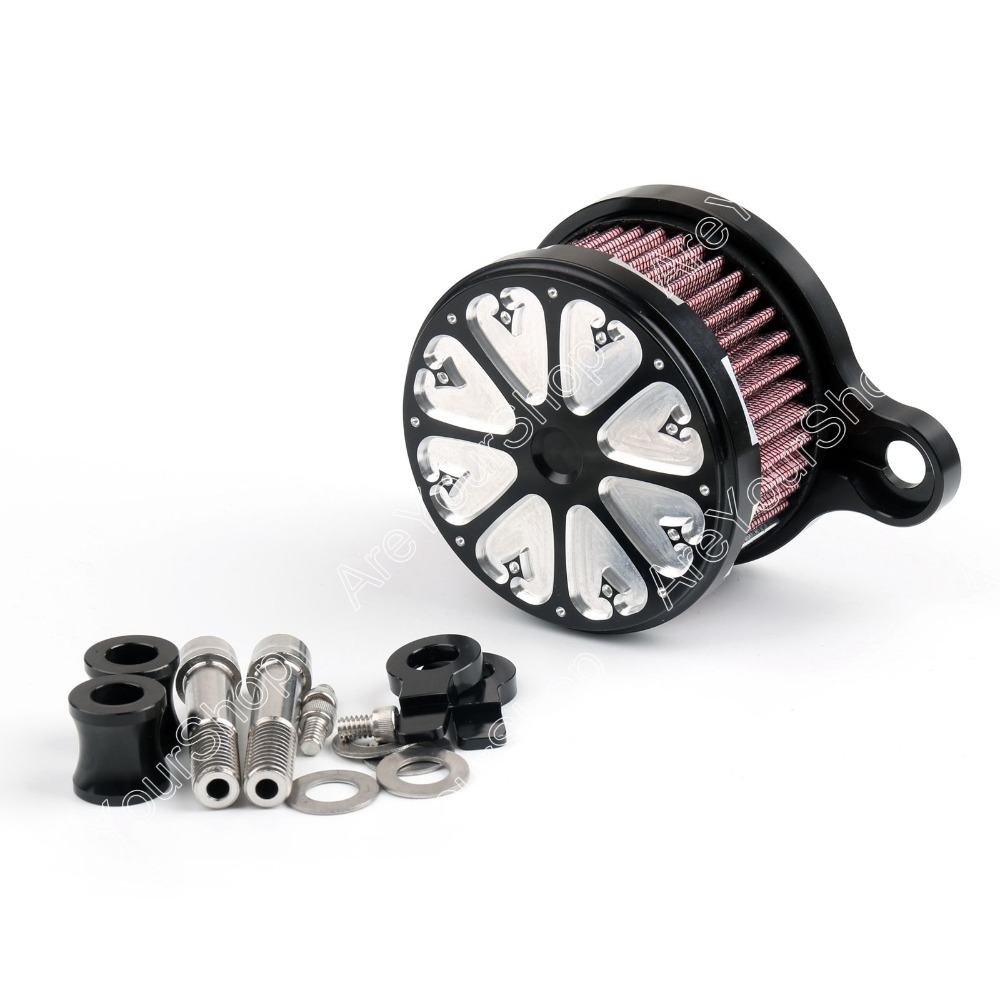 Sale Motorcycle Moto Air Cleaner Intake Filter System Kit CNC Aluminum for Harley Sportster RSD XL 883 XL1200 Carved