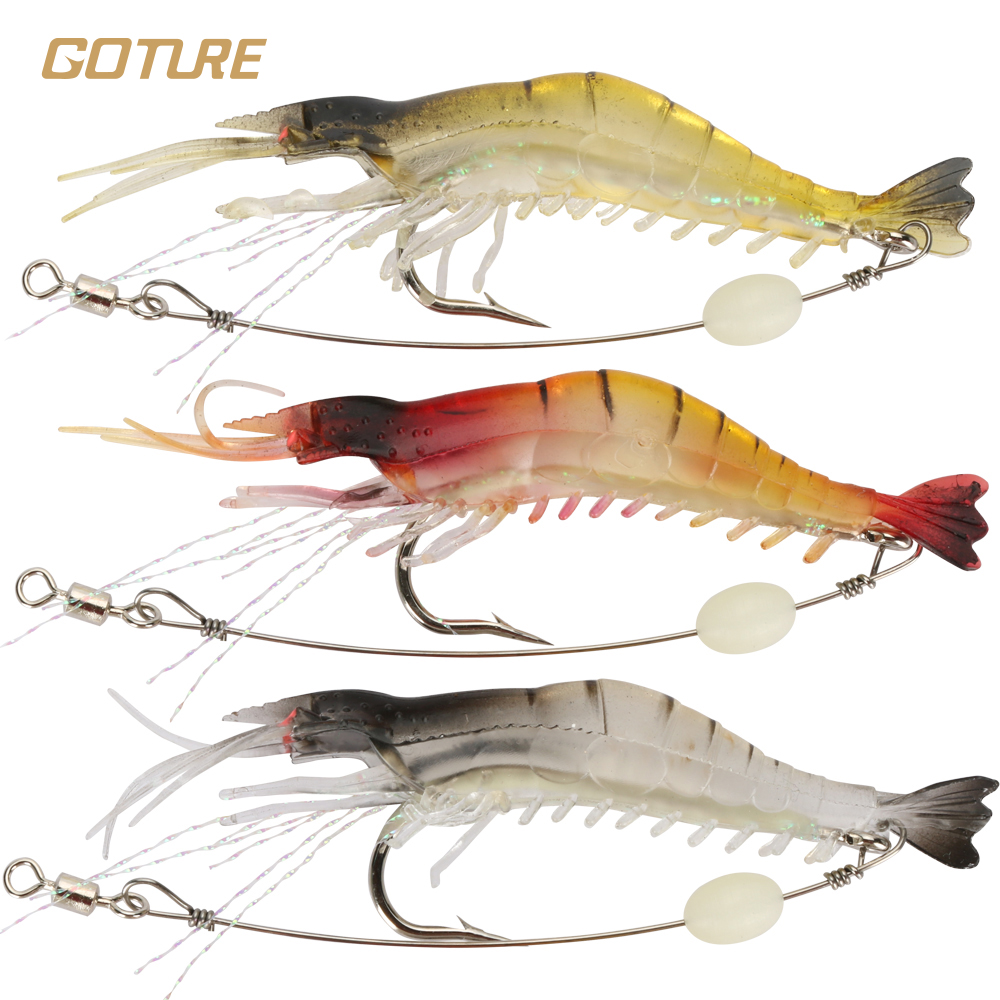 Goture 5pcs lot silicone soft bait 6g luminous for Fishing tackle and bait