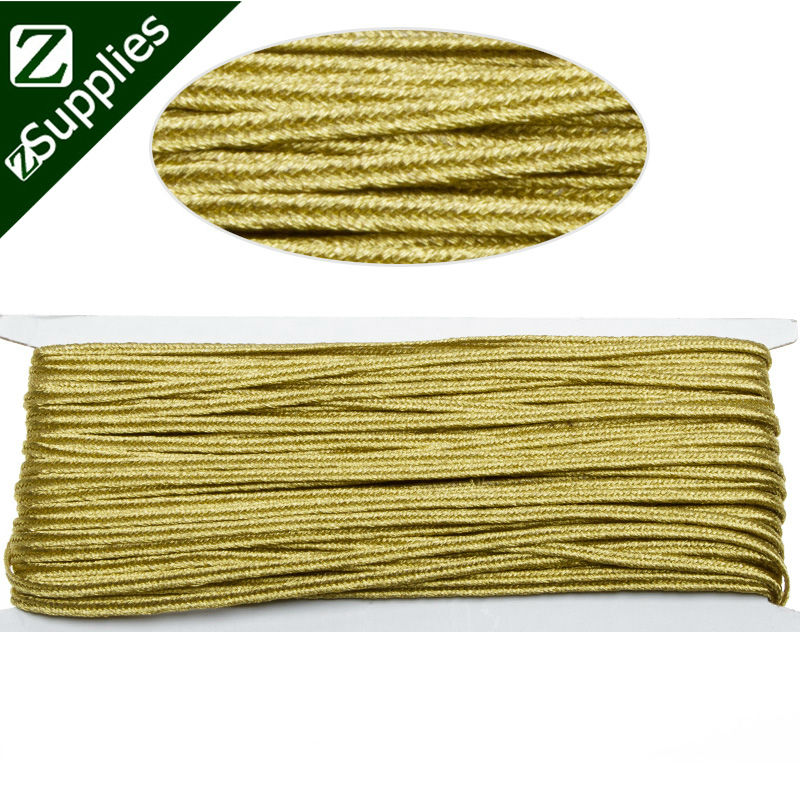 20 Meters 3.5mm Gold Soutache Braid for jewelry making,Soutache Cord-D1484