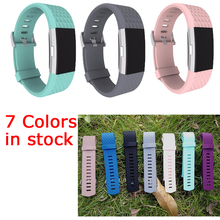 Wholesale FOR fitbit charge 2 band strap Diamond Silicone watchbands For Fitbit charge 2 bracelet smart wristbands COMLYO(China (Mainland))