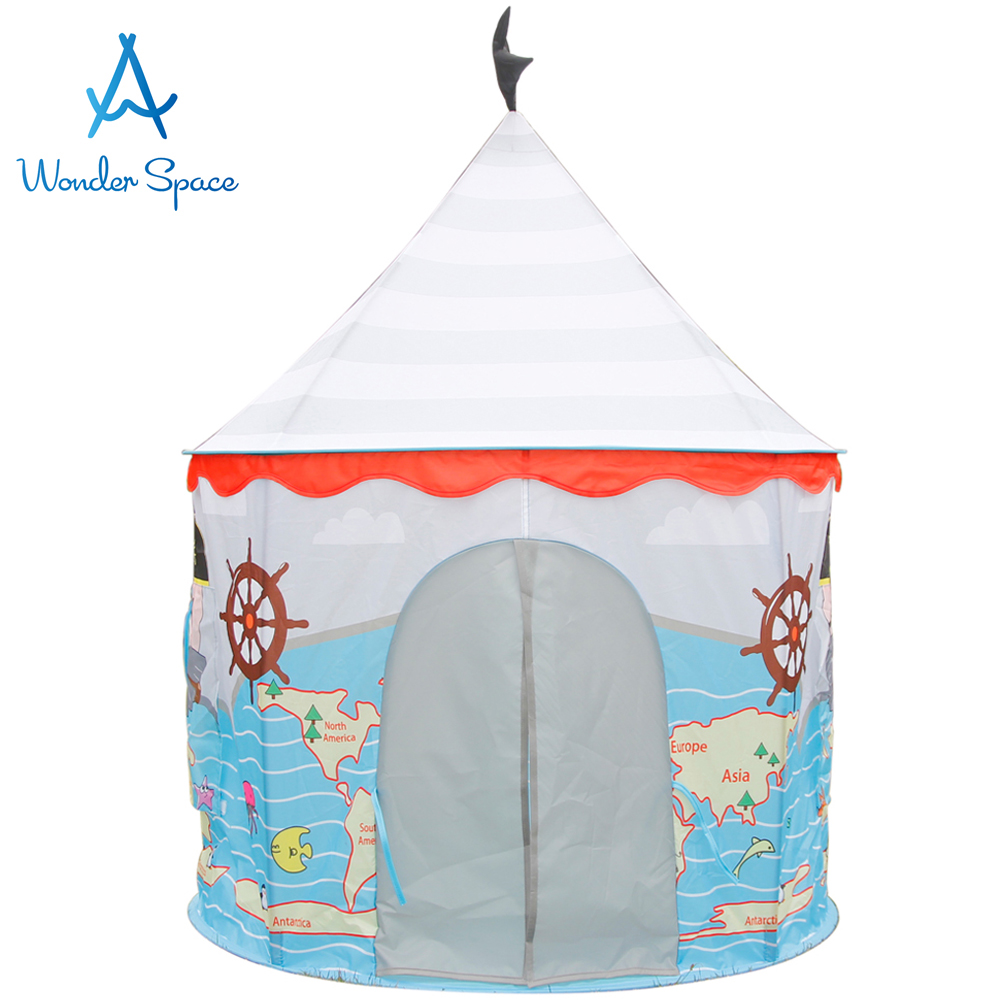 Children Play Tent Sea Ocean Beach Pirate Corsair Castle Kids Foldable Playhouse Best Indoor Outdoor Boys Girls Toddler Fun Toy