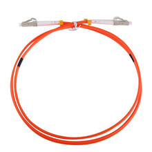 5pcs/lot 1M Jumper Cable Duplex Multimode LC-LC LC To LC Fiber Optic Optical Patch Cord