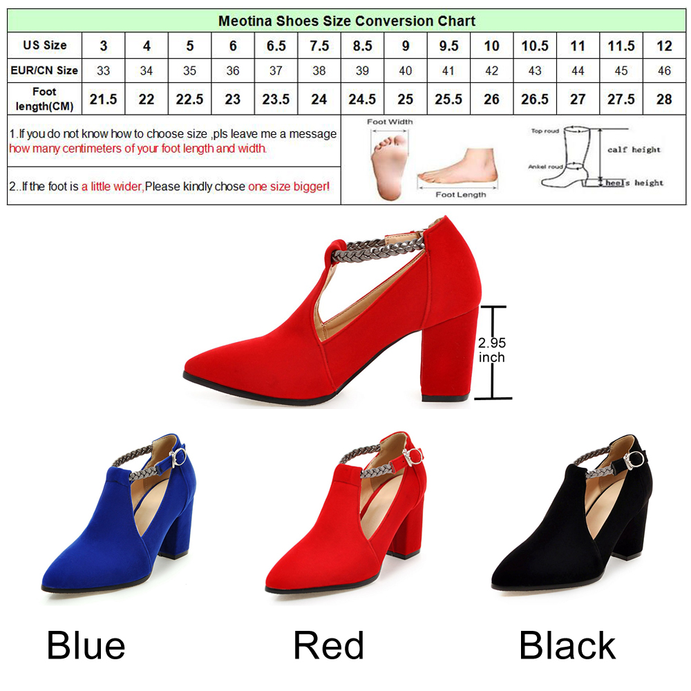 Meotina Women Pumps High Heels Ladies Shoes Elegant Pointed Toe Wedding Female Shoes 2019 Spring Fashion Size 33-43 Blue Black