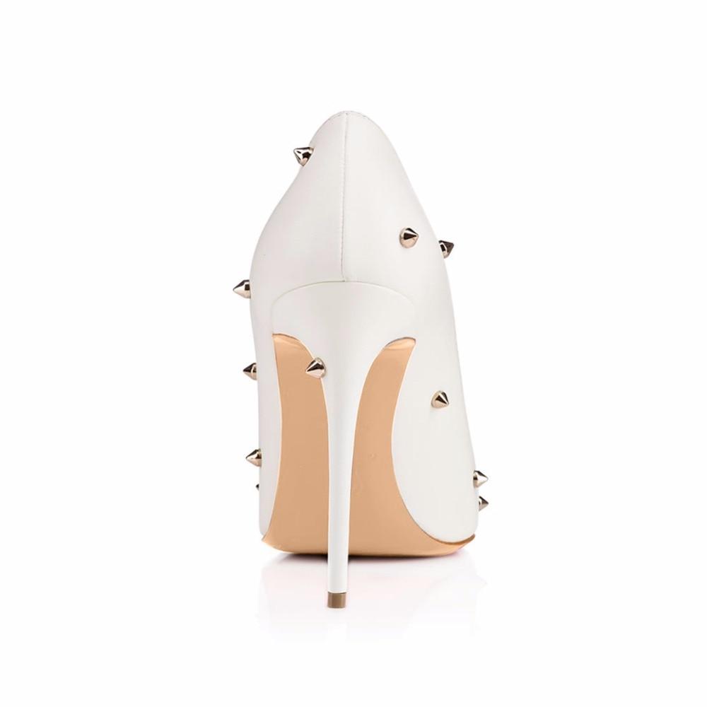 Envío Plus Punto De Gratis Espárragos White Con Noche Vestido Las Moda Tamaño Blanco Tacón Tacones Alto Stiletto Dedo Bombas Zapatos Mujeres 7wFnHU