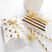 10 шт. Подарочная коробка драже бонбоньерка Подушка Форма День рождения упаковка коробки для вечеринки сладкие свадебные подарочные коробки для подушки Конфета печенье