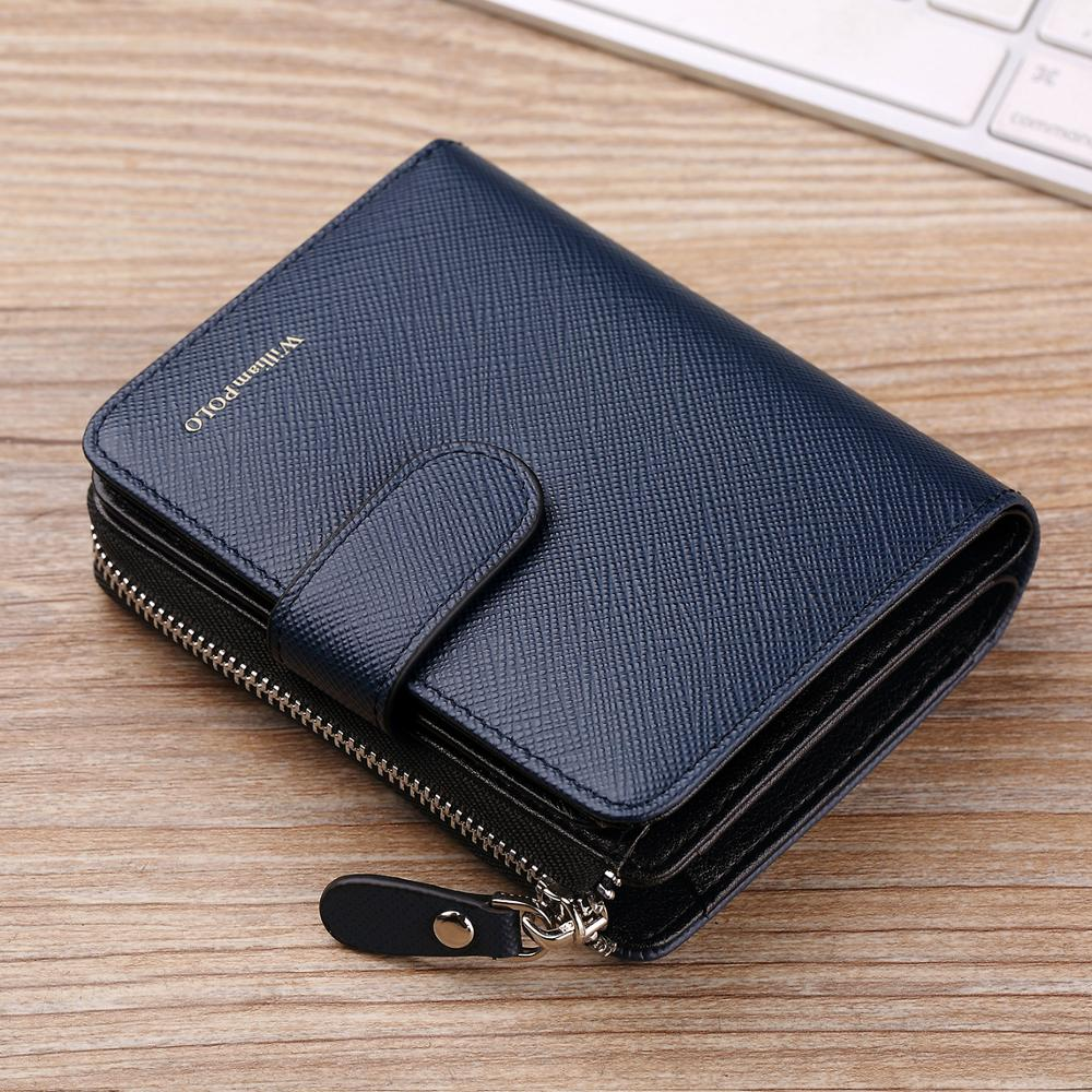 Slim multiple card organizer Leather Credit card ID wallet Zip change purse NEW*
