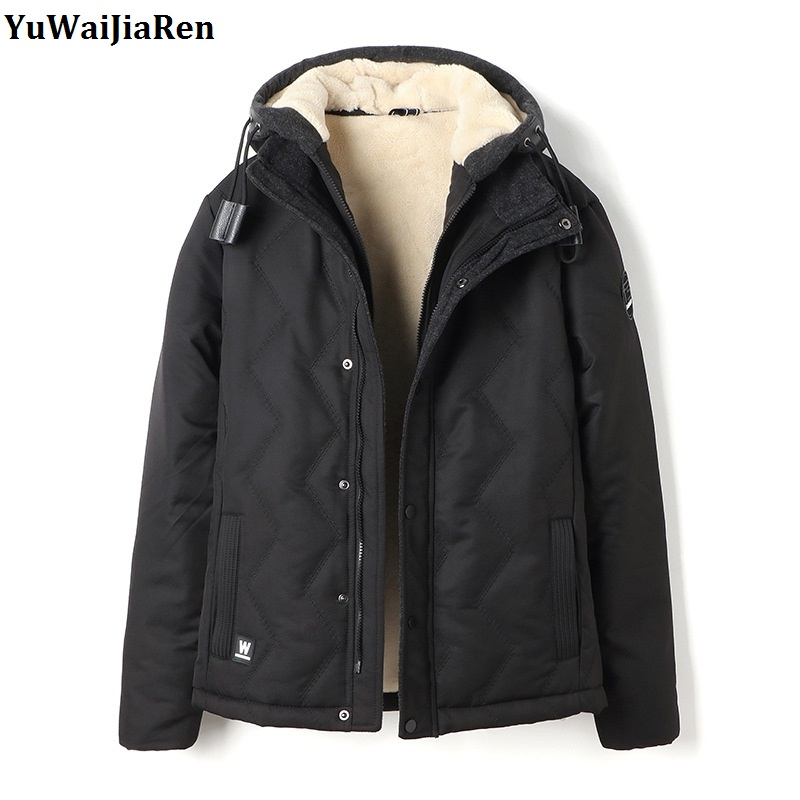 YuWaiJiaRen Winter Jacket Men Thick Warm Parkas Casual Cotton Lining Woolen Coats Windproof Hood Parka Mens Comfortable Clothing fashion detachable hooded thick jackets men warm winter jacket parka men 2017 loose mens coats overcoats windproof cotton parkas