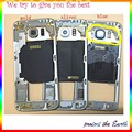 10pcs/lot  Middle Plate Frame Bezel For Samsung Galaxy S6 G9200 Dual Sim Card middle housing + Side Button + Camera Lens + NFC