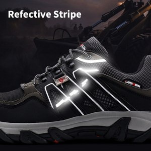 Image 4 - Men Steel Toe Construction Work Shoes Puncture Proof Breathable Safety Shoes With Steel Toe Cap