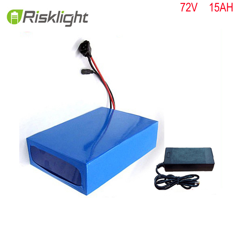 Free  taxes  DIY 72volt 2000w 15ah electric bike lithium battery pack with charger and BMS for 72v 15ah li-ion battery pack free shipping 50a discharge rate lithium battery 48v 50ah 18650 rechargeable li ion battery pack with 2000w bms and charger