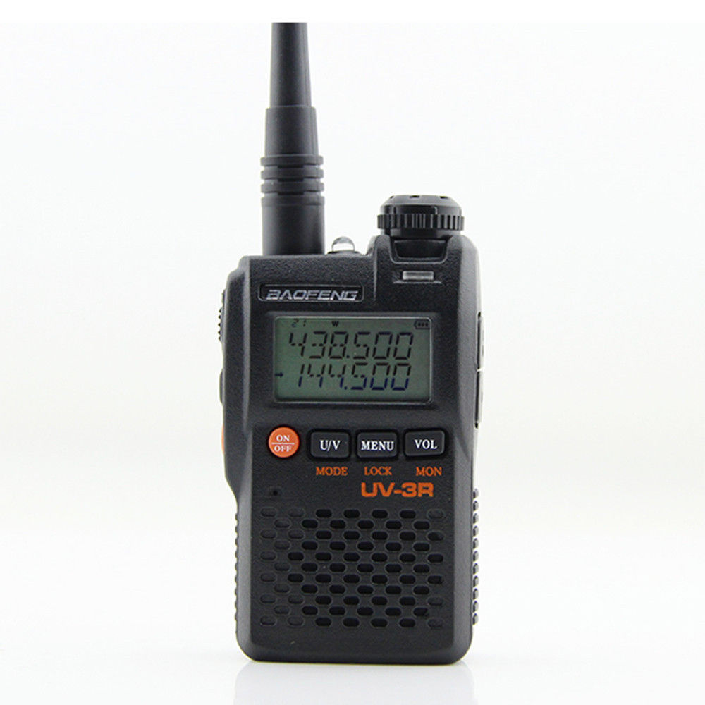 BaoFeng UV-3R Walkie Talkie UV 136-174&400-470MHZ With 1500 MAh Battery UV3R
