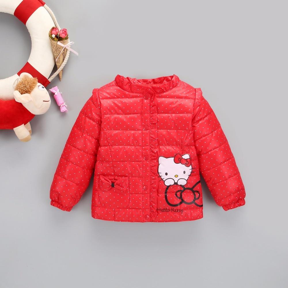 Mandarin Collar Sports Big Kids Winter Warm Coat Boys Outerwear & Coats Cartoon Cat Print Feather Down Thickening Coat for 2-8T
