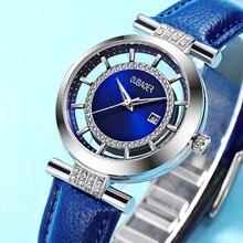 Oubaoer Оригинал Montre Femme платье часы Для женщин Роскошные дамы Часы Пояса из натуральной кожи наручные часы для женские relogio reloj