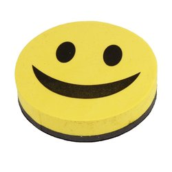 Gute stimmung whiteboard schwamm und schiefer, smiley, magnetische, gelb und schwarz