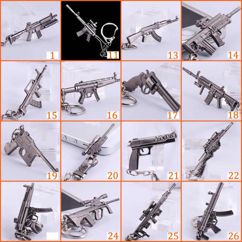 Мужские брелки для ключей с пистолетом Counter Strike CS GO M4A1 AK47, Sniper Awp, мужские брелки, ювелирные изделия, автомобильные аксессуары, подарок, сувениры