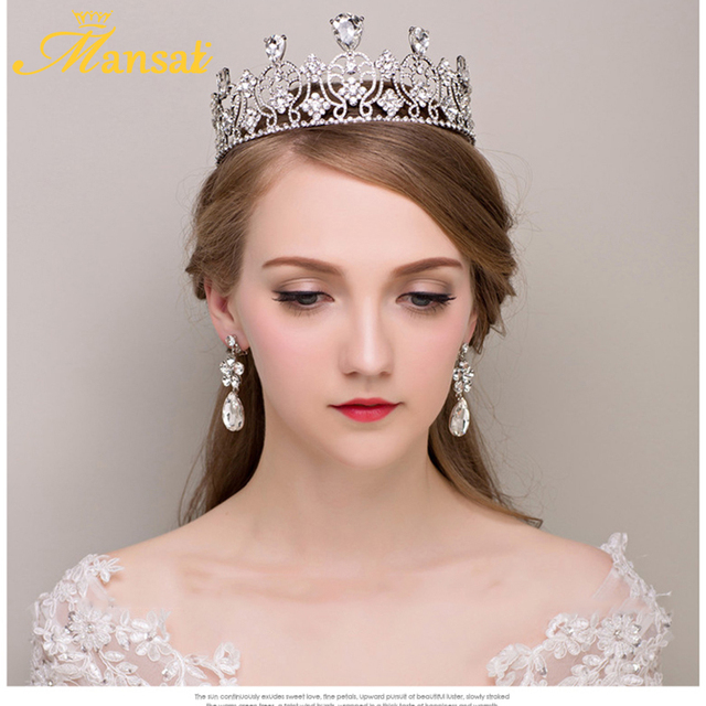 96ddf72884 Euroupen Baroque Queen Crown Women Tiaras and Crowns Bride Head Jewelry  Wedding Hair Accessories Tiara Not Include Earring HG021-in Hair Jewelry  from ...