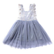 new design 2020 kids clothes baby girl white dress wedding party dresses for children flower girl dresses long sleeve lace gown New Little Girl Ceremonies Dress Baby Children's Tutu Kids Dresses for Girls Clothes Wedding Party Gown Lace Tutu Dresses J11