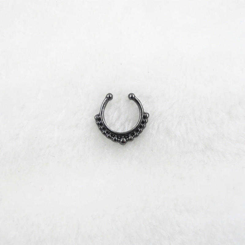 HTB1Hw0ePVXXXXXqXVXXq6xXFXXXa Trendy Women Black Alloy Clicker Septum Nose Ring Jewelry - 10 Styles