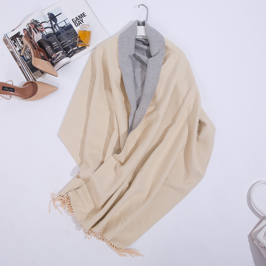 Image 5 - Double Sided Long Cashmere Winter Scarf Women Warm Kerchief Shawl Foulard Femme Stole Pashmina Neck Women Scarf For Ladies 2019-in Women's Scarves from Apparel Accessories
