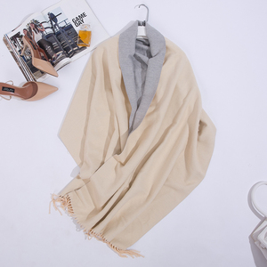 Image 5 - Double Sided Long Cashmere Winter Scarf Women Warm Kerchief Shawl Foulard Femme Stole Pashmina Neck Women Scarf For Ladies 2019