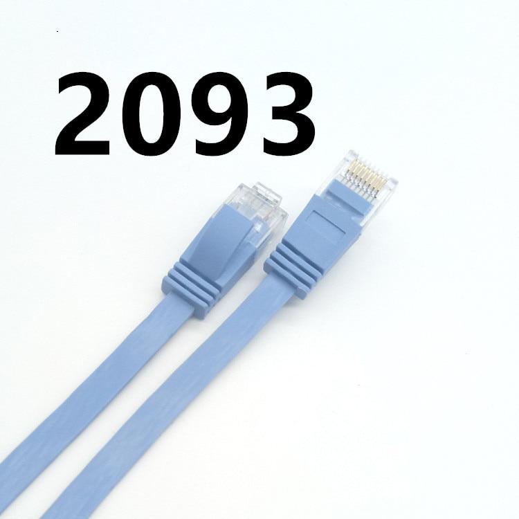 DZ MEIBAI câble haute vitesse RJ45 CAT7 Ethernet réseau plat LAN câble UTP Patch routeur câble 2093