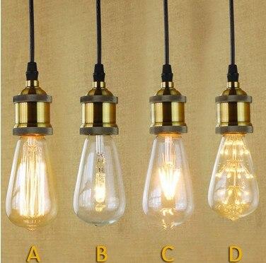 Delicieux American Loft Métallique Rétro Droplight Edison Industrielle Vintage  Pendentif Luminaires Pour Salon Salle à Manger Bar Lampe Suspendue