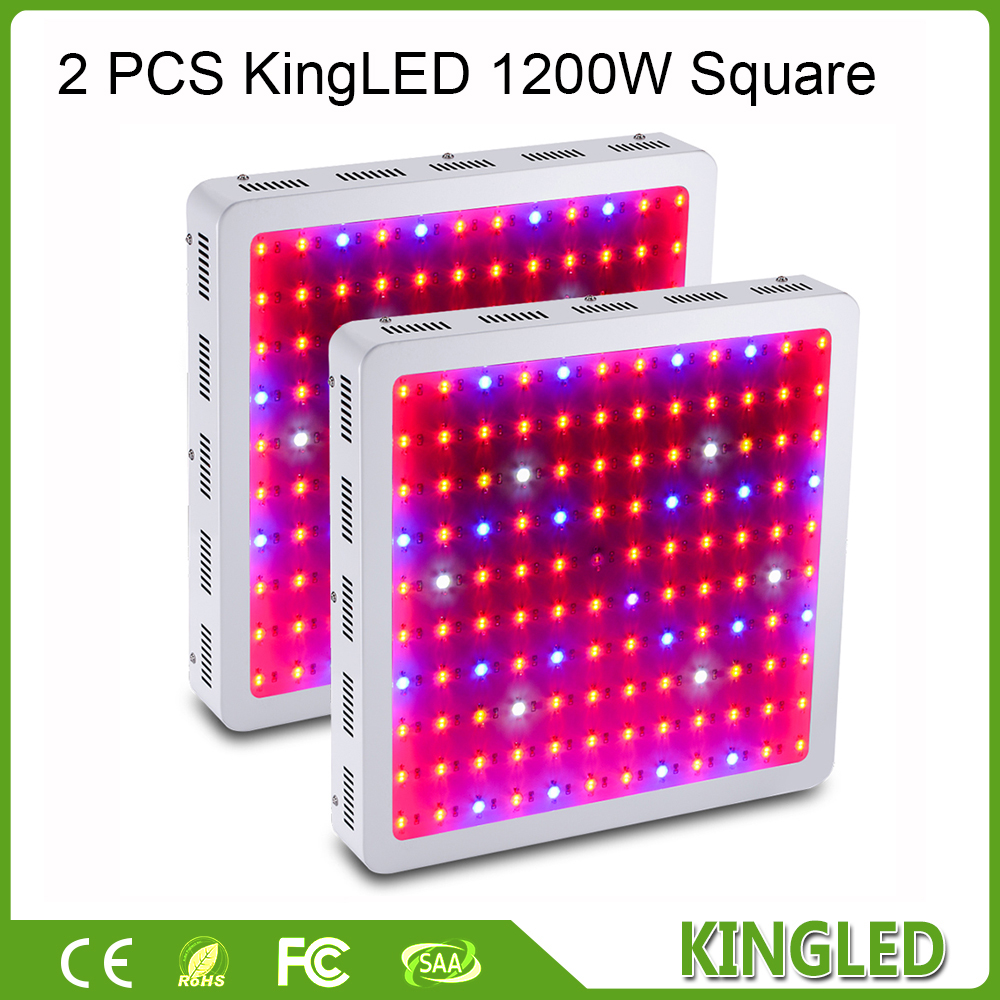 2pcs/lot KingLED 1200W Double Chips LED Grow Light Full Spectrum 410-730nm for Indoor Plants and Flower Phrase Very High Yield