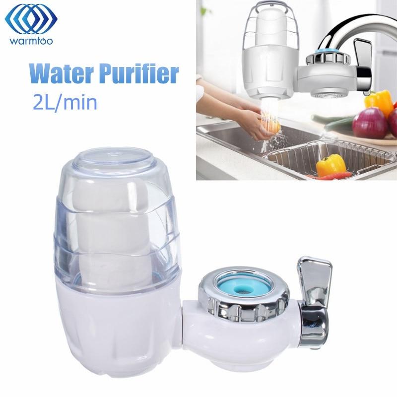 Home Water Purifier Faucet Fluoride Filter Ceramic Cartridge Kitchen Tap Filter White Transparent Water Treatment Appliances цена и фото