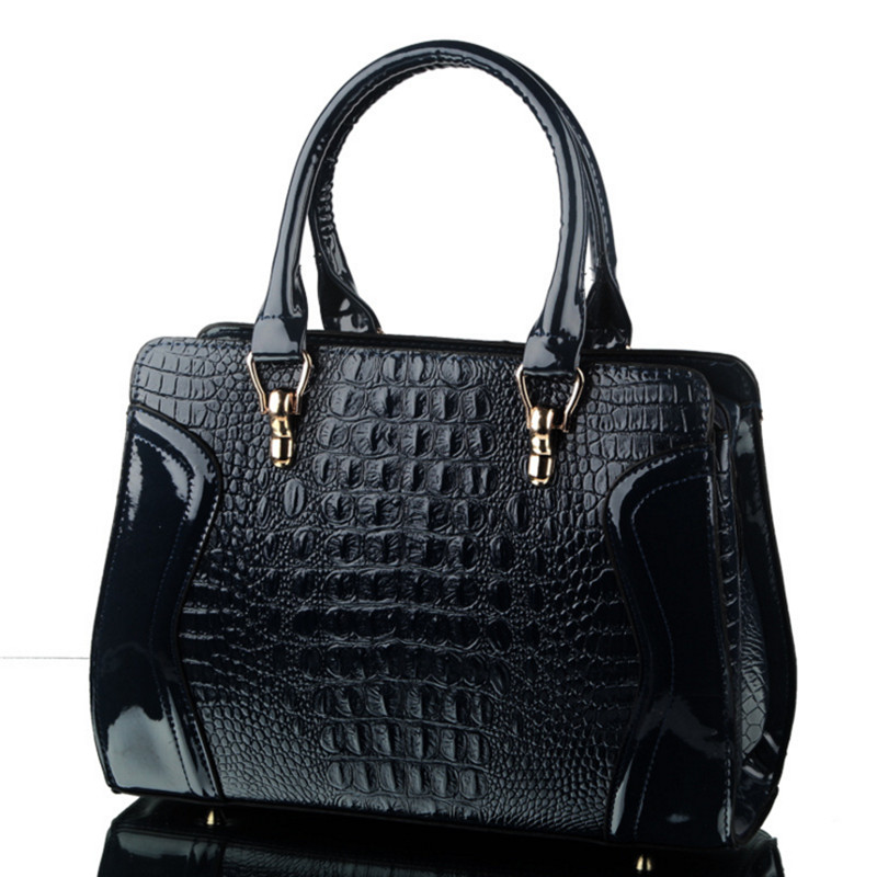 2017 New High Grade PU Leather Crocodile Pattern Women Bag Handbags Women Messenger Bags Crossbody Shoulder