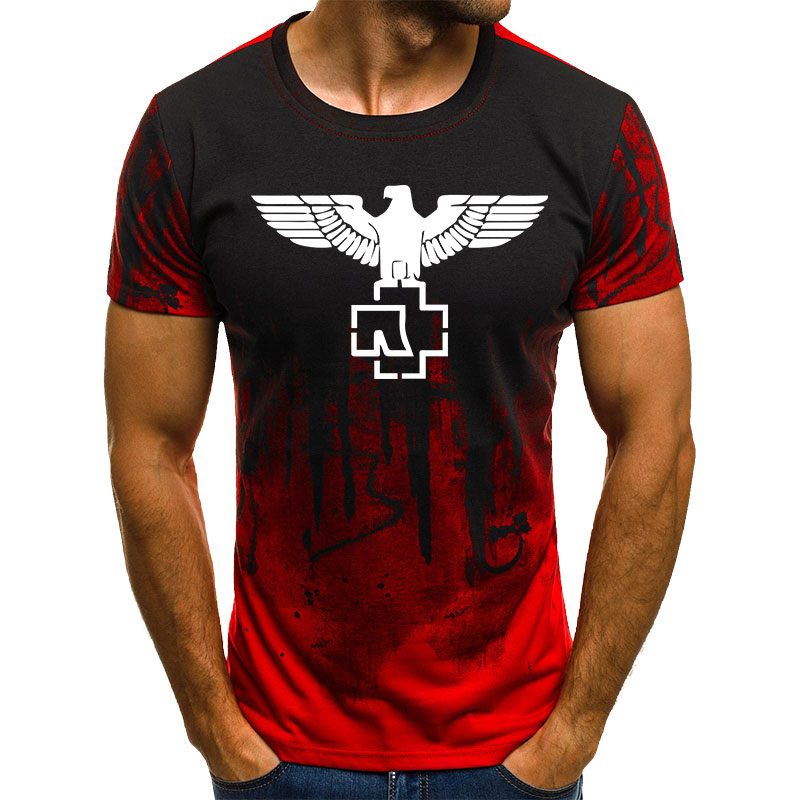 Newest Styles Rammstein Printing Mens Cool   T     Shirt
