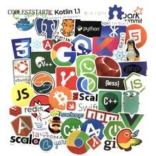 Шт. 50 шт. интернет Java JS Html облако Docker Bitcoin Программирование язык приложение Логотип Прохладный наклейки для ноутбука автомобиля DIY наклейки