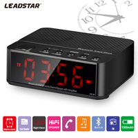 The Fashionable Multifunctional Wireless Stereo Bluetooth LED Clock Speaker
