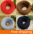 Free shipping (2m/Lot)  twisted electrical wire Vintage Fabric Copper Conductor Eletrical Wire(2*0.75mm) Edison Bulb Lamps cable