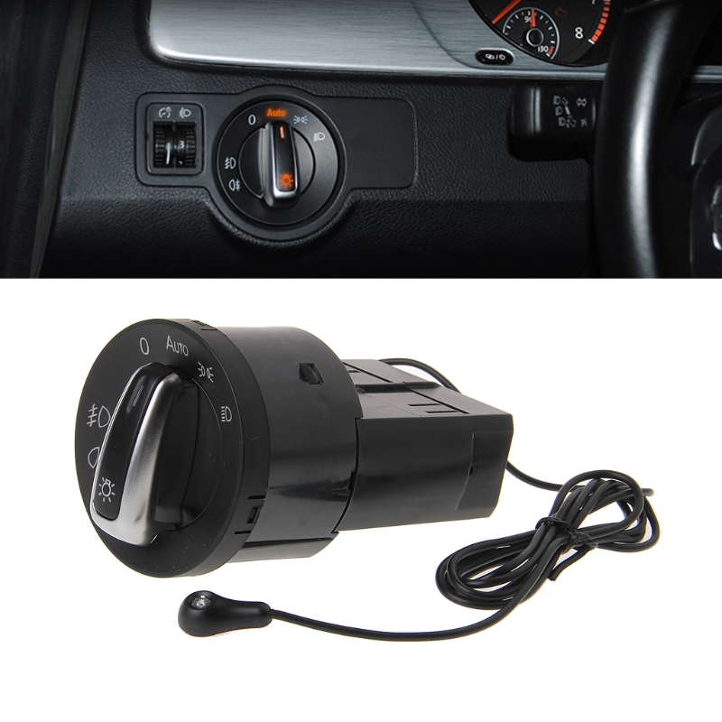 Auto Headlight Chrome panel Switch Plug For VW Polo Golf 4 Jetta MK4 Passat B5 Polo