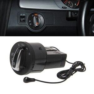 Авто фара хромированная панель Переключатель штекер для VW Polo Golf 4 Jetta MK4 Passat B5 Polo