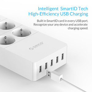 Image 4 - ORICO Smart multiprise Portable chargeant 4/6/8 prises avec 5 2.4 A 40W USB chargeur Ports Protection contre les surtensions avec 1.5m cordon dalimentation