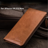 Multi function Clutch Bag for iPhone XS MAX Case Luxury Genuine Leather Phone Cover Wallet for iPhone XR iPhone XS X Fashion