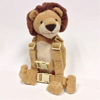 2 in 1 Harness Buddy Lion Babi Safety Animal Backpacks Bebe Walking Reins Toddler Leashes GB 013