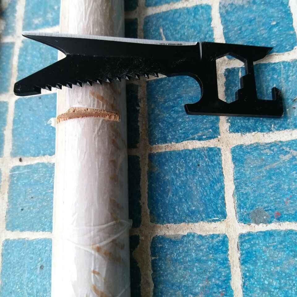 BLF 7 em 1 Cartões de Sabre de Bolso Portátil Ferramenta de Sobrevivência de Campismo frutas faca Chave de Fenda Saw Blade Chave Pode Abridor de garrafas Ferramenta EDC