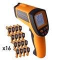 16 шт. x 12:1 DS цифровой пирометр инфракрасный лазерный термометр-50 ~ 700 C (-58 ~ 1292 F) диапазон  Лот из 16