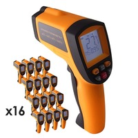 16 pieces x 12:1 DS Digital Pyrometer Infrared IR Laser Thermometer 50~700 C ( 58 ~ 1292 F) Range ,lot of 16