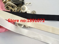 50yards 20mm Width 32stitching Exquisite Quality White/Ivory/Black Color Twill Cotton Webbing Sewing Accessory For Underwear DIY