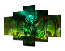 5 Pcs/Set Framed HD Printed Game Anime Painting Canvas Print Room Decor Print Poster Picture Canvas Decoracion Hogar