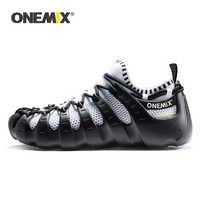 ONEMIX 2019 Männer Frauen Licht Im Freien Zu Fuß Schuhe Weiche Gummi Laufsohle Casual Multifunktions Atmungsaktiv Laufschuhe Quick Dry Socken