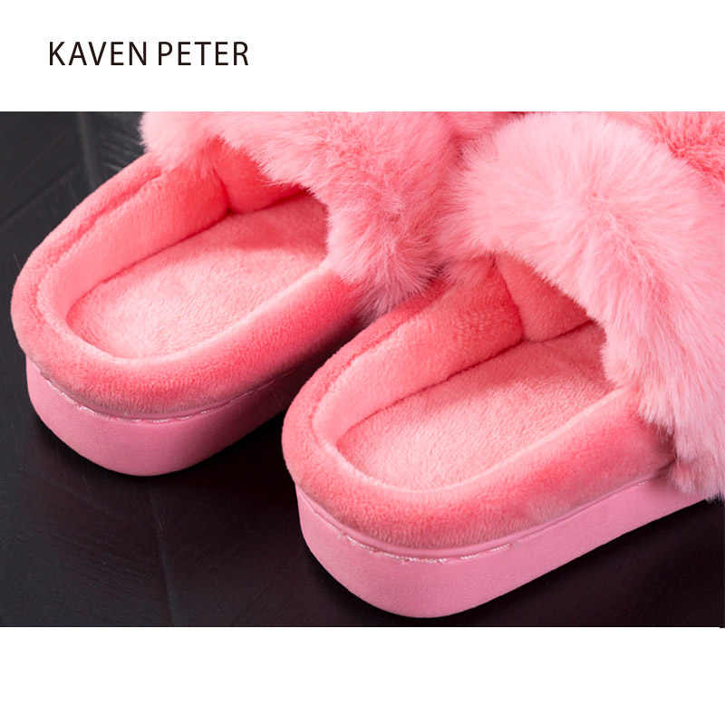 Home slippers 2017 Winter children slippers Mother kid fur slippers animial shoes warm indoor house shoes size 10-8